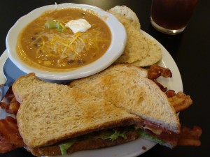 J's BLT and Taco Soup at JK's Cheesecake Cafe