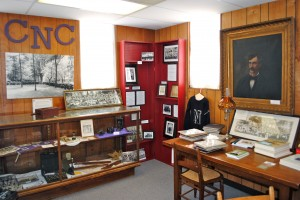 This room is chock full of Central Normal College memorabilia.