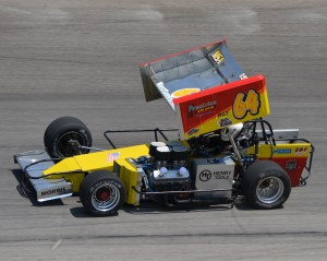 A Super Modified car in Must See Racing, driven by Jim Paller in 2012.  (Photo by Bill Miller, courtesy of tjslideways.com)