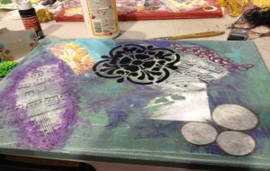 art journaling work in progress