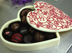 At Confection Delights, everything is edible, even the heart-shaped box.
