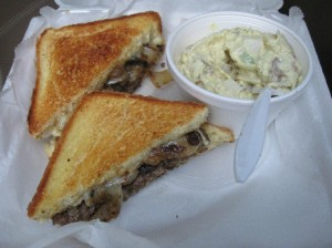 Green Street's Classic Patty Melt sandwich