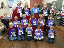 Gallery on the Square offers Paint and Sip classes for children and adults.