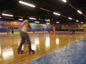 Hot Skates has a new wooden floor.
