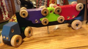I know many kids who appreciate a wooden toy, like a train