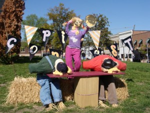 One of the Scarecrow Displays on the Courthouse Square in Danville.
