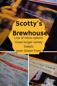 A great, and varied menu with complex burger options, wraps, salads, and even a gluten-free menu offer many choices for your dining experience.