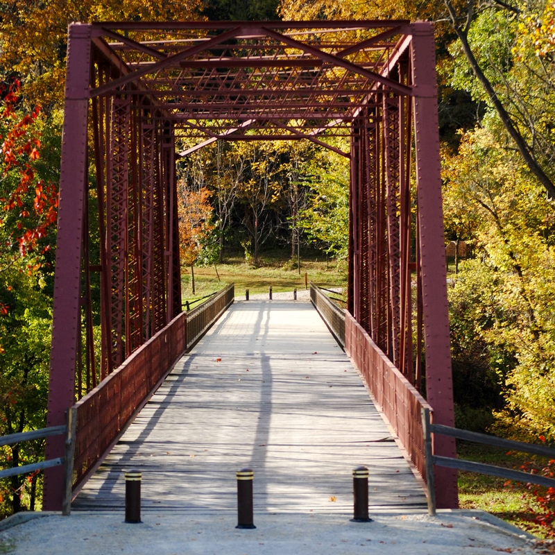 McCloud Nature Park bridge in North Salem, Indiana