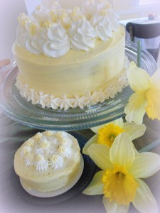 The Bread Basket Daffodil Cake is the perfect end to a great Easter dinner.