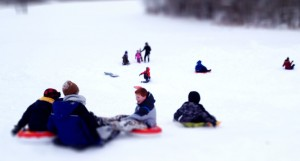 Sledding hill at the Bible Church of Brownsburg