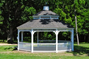 This Amish-made gazebo in Lambert Park would make a great photography setting.