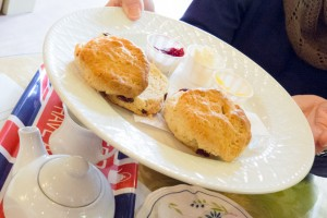 The Devonshire Cream Tea included two fresh scones with handmade preserves and imported clotted cream.