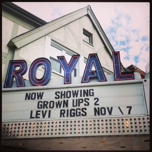 Danville's historic Royal Theater is home to Danville's own Levi Riggs on Nov. 7.  Indianapolis' Blue Town Bluegrass Band opens.