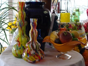 Unique glass items can be found at Flowers and Treasures.