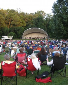 Come see the Indianapolis Symphony Orchestra at the white half-moon-looking-thingie (or amphitheater) at Ellis Park in Danville on July 10.