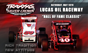 The USAC Hall of Fame Classic comes to Lucas Oil Raceway on May 18, 2013.  (Photo courtesy of USACracing.com)