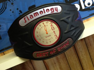 The winner of the 2013 Slamology Best of Show takes home this custom-made belt.  (Photo courtesy of Slamology.com)