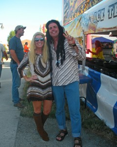 Decked out in their 70's attire, this couple truly embraced this year's 4-H Fair Theme!