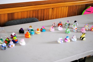Decorated rubber duckies prepare to race down the creek at Ellis Park in Danville. (Photo courtesy of Kiwanis Club of Danville Facebook page)