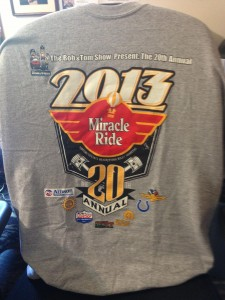 Register online by Wednesday, May 22 to ensure that you get your Miracle Ride shirt!  (Photo courtesy of Miracle Ride's Facebook page)