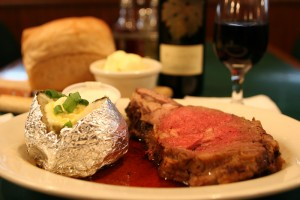 Specialty of the House: Prime Rib Dinner at The Coachman Restaurant and Lounge in Plainfield