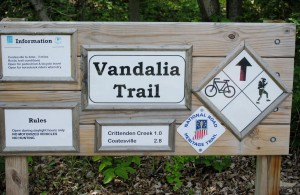 The new signage makes the Vandalia Trail very easy to navigate.