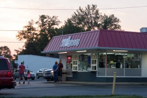 The Lizton Dairy Bar is a great place to get some cold ice cream on a hot night!