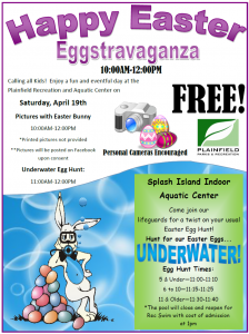 Search for Easter eggs underwater in this unique egg hunt in Plainfield, Ind. (Photo courtesy of Plainfield Parks & Recreation)