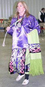 Head Dancer Kathy Loehman visits Hendricks County on Jan. 4 to be the Head Lady at the Mid-Winter Pow Wow. (Photo courtesy of the Tecumseh Lodge)