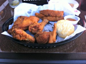one of B Squared's specialties is their broaster chicken. Order this!