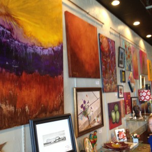 Paintings by Frank Lawler at Finer Things in Brownsburg.