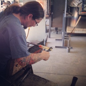 Watch artists like Clayton Benefiel demonstrate many styles of glass blowing.