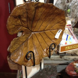 Leaf casting by Lou Emge - Frazee Gardens