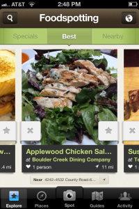 Foodspotting will help you decide which dish to order through user photos and recommendations.