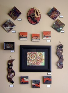 Lynne Medsker's work displayed at Artistic Designs Gallery in Brownsburg.