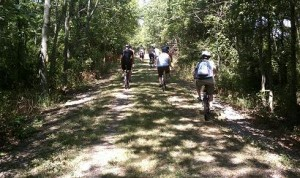 bikers on Vandalia Trail