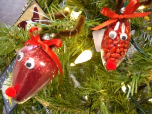 Reindeer Ornaments by Carolyn Parent