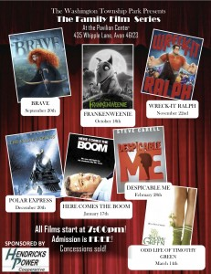 The 2013 Family Film Series at Washington Township Park in Avon, Indiana.