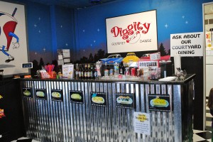 Step back in time to the 1950s by visiting Diggity Gourmet Dawgs.