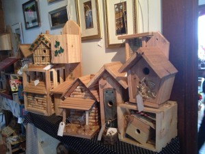 Local handmade birdhouses at Reclamation