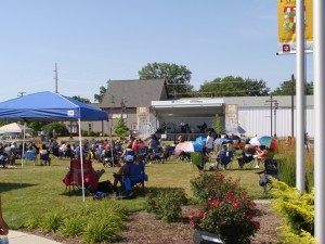 A summer concert at Brownsburg Town Hall.