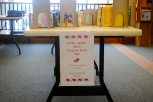 The Danville Public Library -- one of the stops on the Downtown Danville Chocolate Walk -- has romance books for sale, just in time for Valentine's Day.
