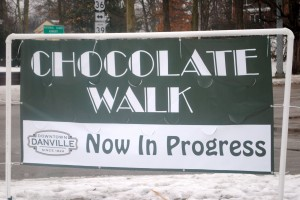 The 3rd annual Downtown Danville Chocolate Walk runs through Valentine's Day.