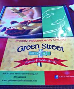 Green Street Pub & Eatery's menu