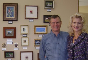 Miniature Fine Artists Wes and Rachelle Siegrist will be available to greet people Friday.