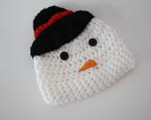 A newborn snowman hat from Simply Charming Props