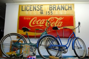 The Danville Trading Post has antique and vintage signs, bicycles, toys, books, movies, furniture, kitchenware and on and on.