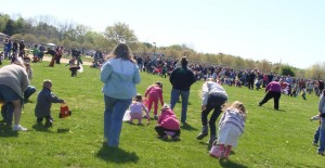 The Easter Egg Hunt at Hummel Park in Plainfield, Indiana