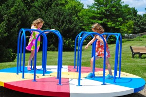 My girls' favorite apparatus at North Salem Community Park.