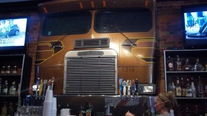 This Freightliner in Diesel's Sports Grille even has working headlights and clearance lights!